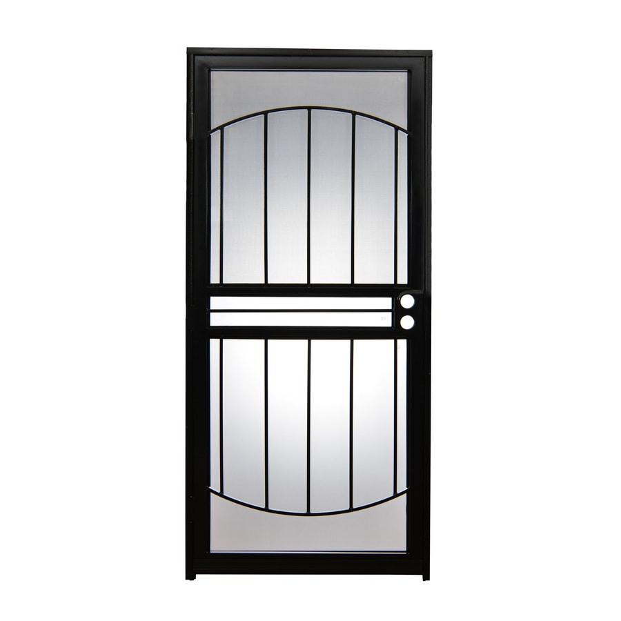 Gatehouse Geneva Black Steel Recessed Mount Single Door Security Door (Common 32-in  sc 1 st  Loweu0027s & Shop Gatehouse Geneva Black Steel Recessed Mount Single Door ...