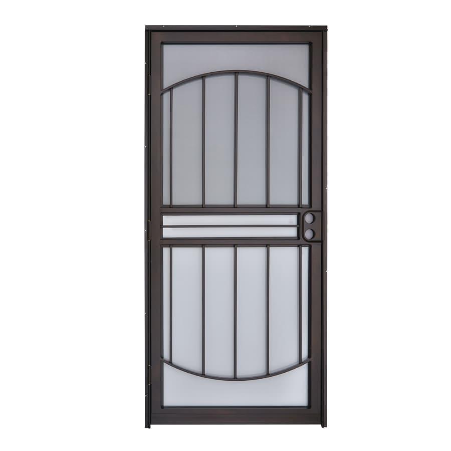Shop gatehouse copper mid view steel standard storm door for Lowes storm doors