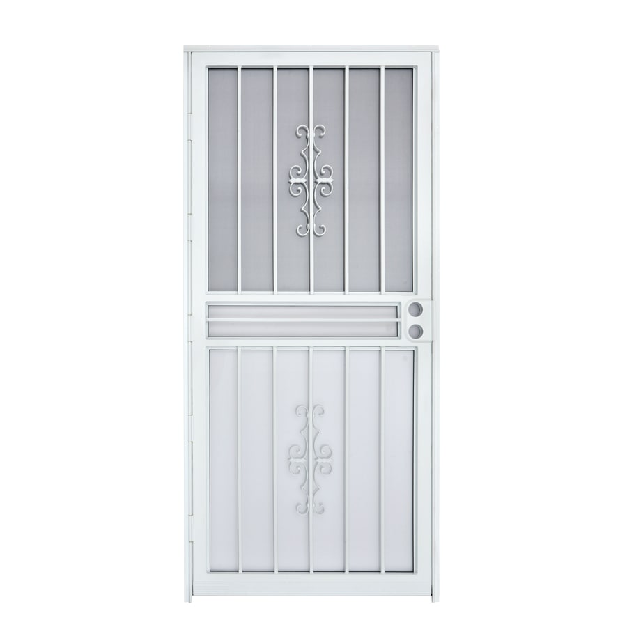 Gatehouse White Mid-View Steel Standard Storm Door (Common: 30-in x 80-in; Actual: 29-in x 78.5-in)
