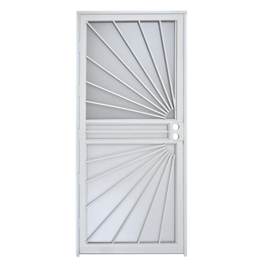 Gatehouse White Mid-View Steel Standard Storm Door (Common: 36-in x 80-in; Actual: 35-in x 78.5-in)