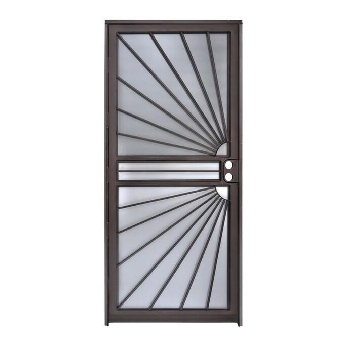 Gatehouse Sunray 36 In X 80 In Copper Vein Steel Recessed Mount Single Door Security Door In The Storm Doors Department At Lowes Com