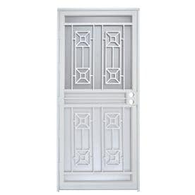 security doors at lowes. Plain Security Gatehouse Matrix White Steel Recessed Mount Single Door Security  Common 32in For Doors At Lowes