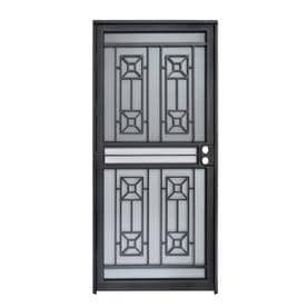 security doors at lowes. Beautiful Security Gatehouse Matrix Black Steel Recessed Mount Single Door Security  Common 32in To Doors At Lowes B