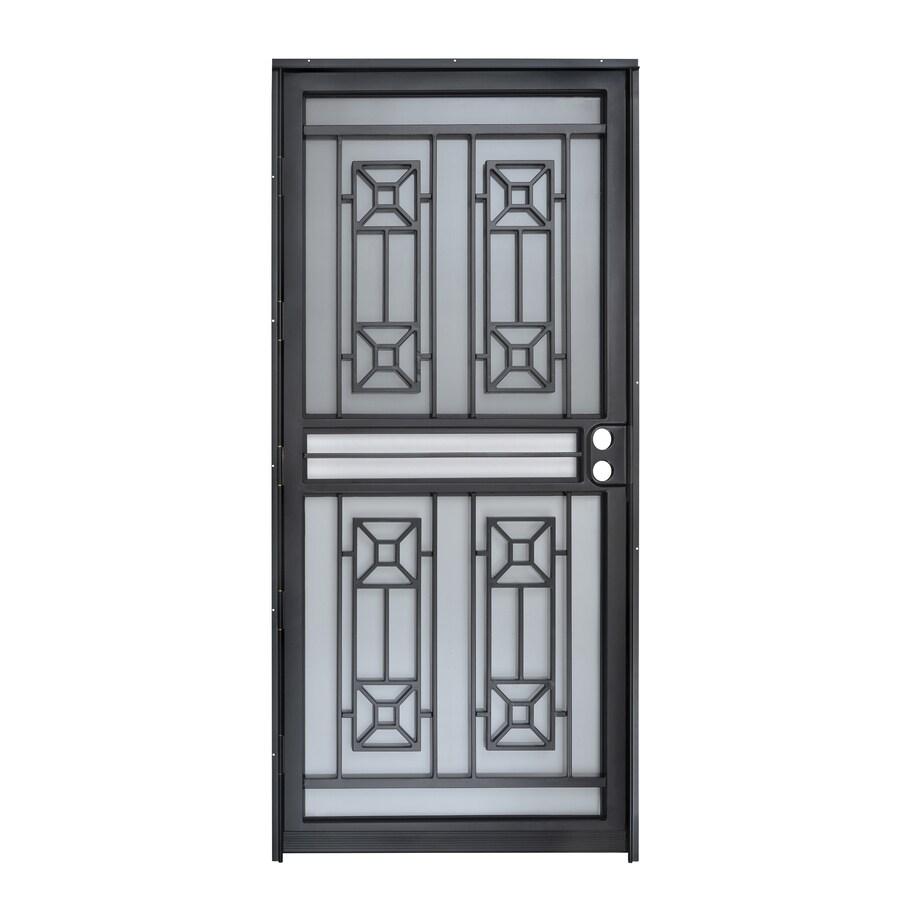 Gatehouse Matrix Black Mid-View Steel Standard Storm Door (Common: 36-in x 80-in; Actual: 35-in x 78.5-in)