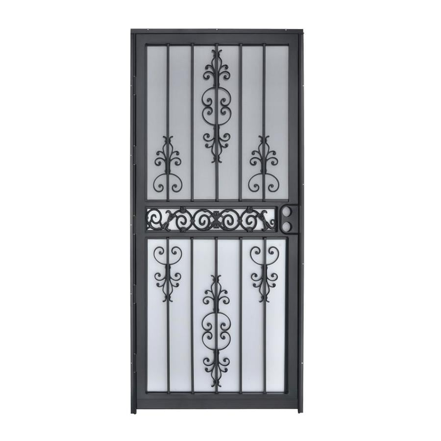 Gatehouse Black Mid-View Steel Standard Storm Door (Common: 32-in x 80-in; Actual: 31-in x 78.5-in)