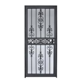 Gatehouse Garden View Black Steel Recessed Mount Single Security Door Common 32 In