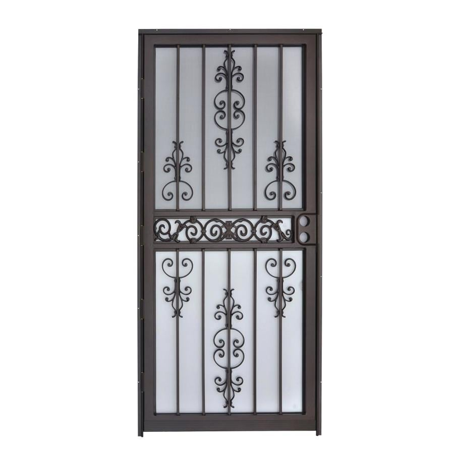 Gatehouse Garden View Copper Mid-View Steel Standard Storm Door (Common: 36-in x 80-in; Actual: 35-in x 78.5-in)