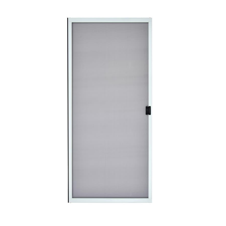 ReliaBilt White Steel Sliding Curtain Screen Door (Common: 30 In X 80