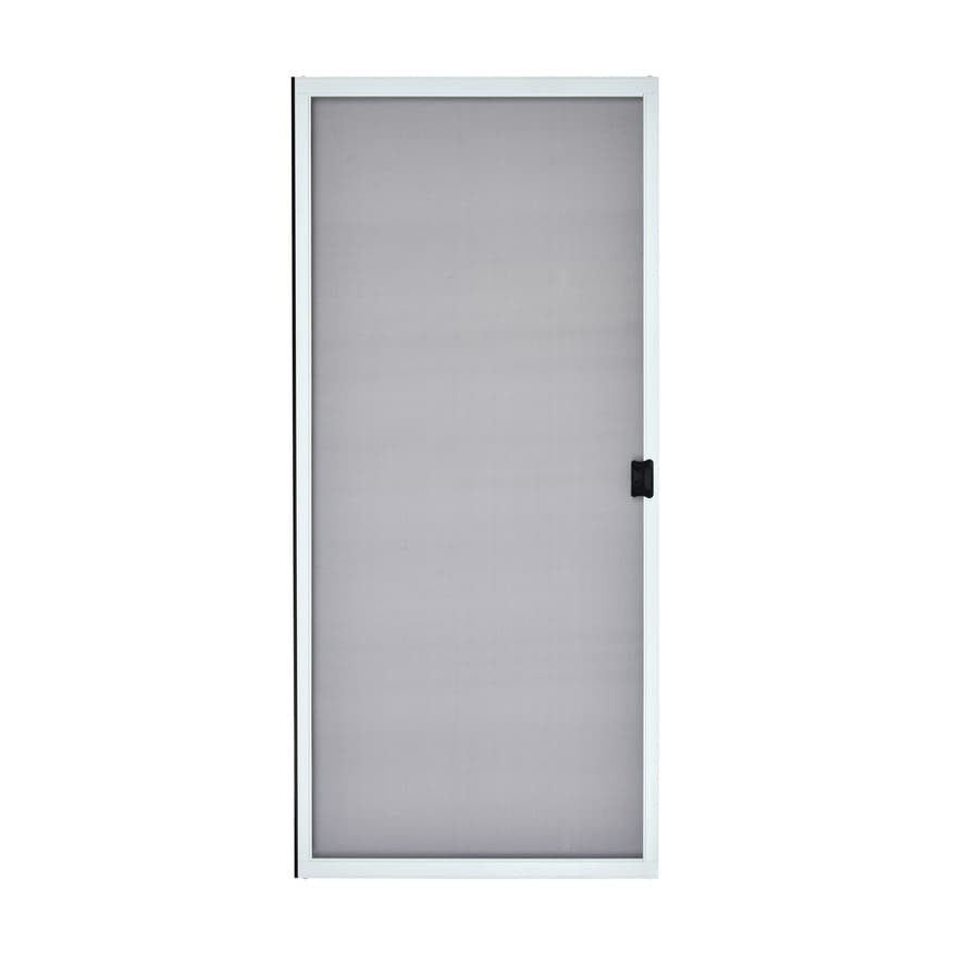 ReliaBilt White Steel Sliding Curtain Screen Door (Common: 36-in x 80-in; Actual: 36-in x 80-in)