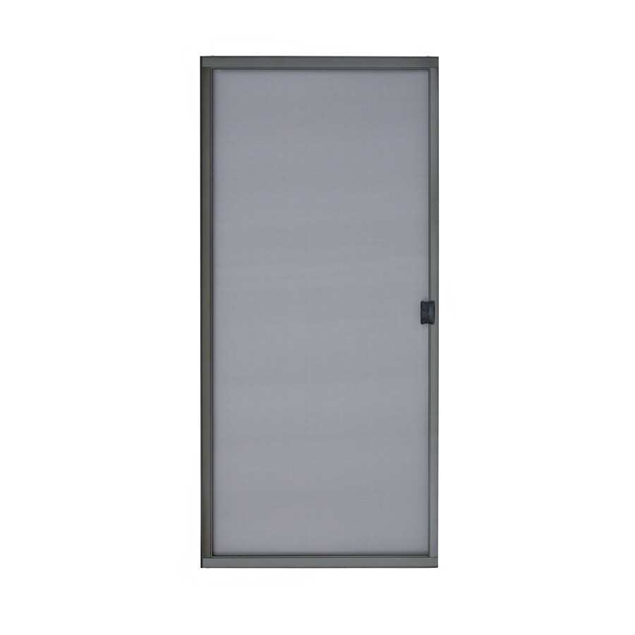 Shop Reliabilt Bronze Steel Sliding Curtain Screen Door
