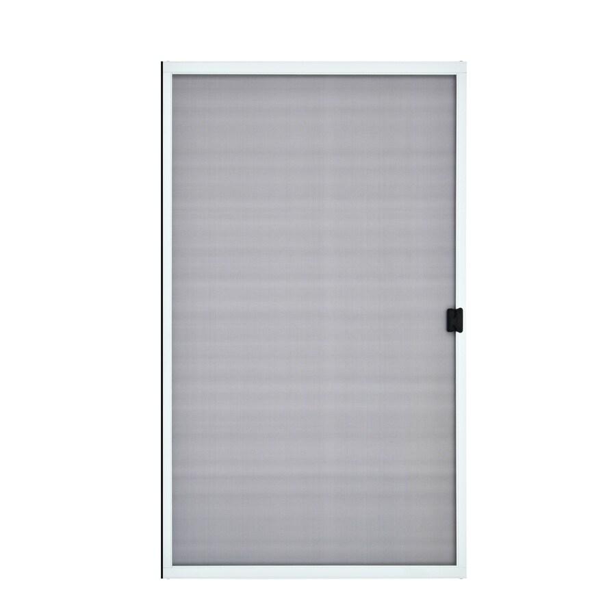 ReliaBilt White Steel Sliding Curtain Screen Door (Common: 48-in x 80-in; Actual: 48-in x 80-in)