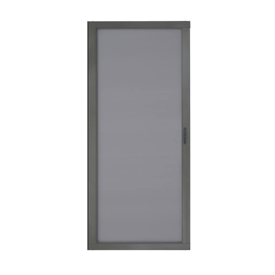ReliaBilt Bronze Aluminum Sliding Curtain Screen Door (Common: 36 In X 80