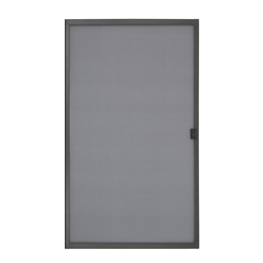 Grisham Bronze Steel Sliding Curtain Screen Door (Common: 48-in x 80-in; Actual: 48-in x 80.75-in)