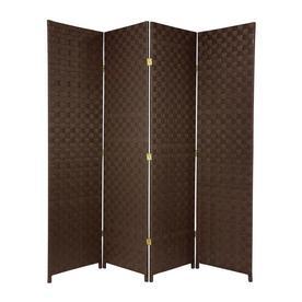 Oriental Furniture 70 In W X 71 H Dark Brown Vinyl Polyresin