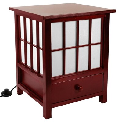 super popular 23e38 95b60 Red Lantern Oriental Furniture 19-in Rosewood Shaded Floor ...