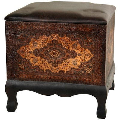 Amazing Red Lantern Old World Vintage Faux Leather Print Faux Dailytribune Chair Design For Home Dailytribuneorg