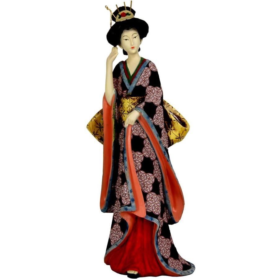 Red Lantern 14 In Geisha Figurine With Ivory Flower Sash In The Tabletop Decorations Department At Lowes Com