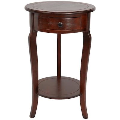 Red Lantern Oriental Furniture Cherry Wood End Table At