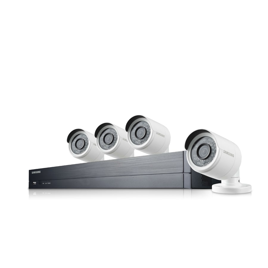Samsung 1080P 4 Channel Security System  Digital Wired Outdoor Security Camera with Night Vision