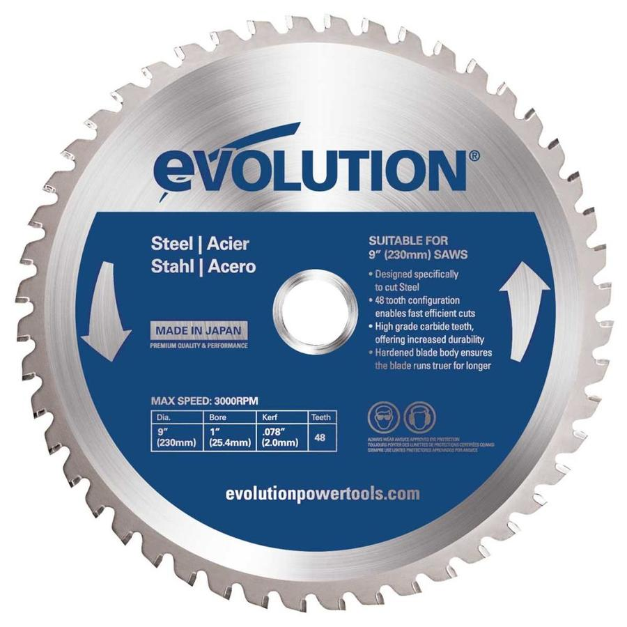 Evolution 9-in 48-Tooth Dry Standard Tungsten Carbide-Tipped Steel Circular Saw Blade