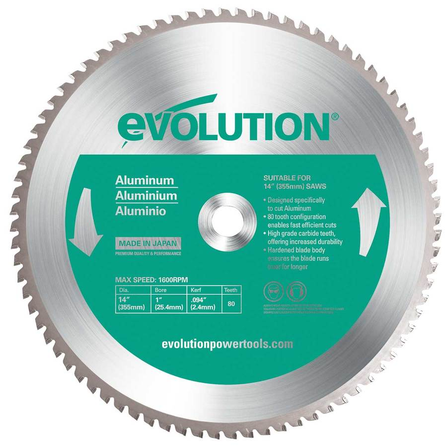 Evolution 14-in 80-Tooth Tungsten Carbide-Tipped Steel Circular Saw Blade