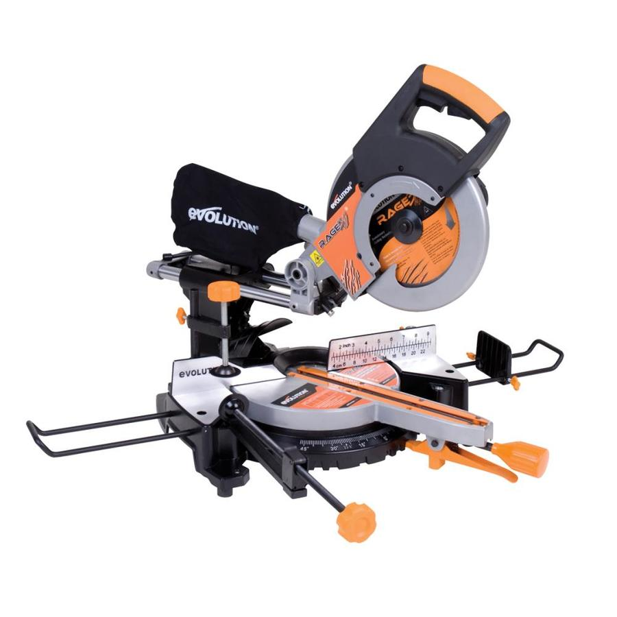 Evolution RAGE3 10-in 15-Amp Single Bevel Sliding Laser Compound Miter Saw