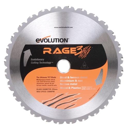 185 mm Evolution Power Tools RAGE Multi-Purpose Carbide-Tipped Blade