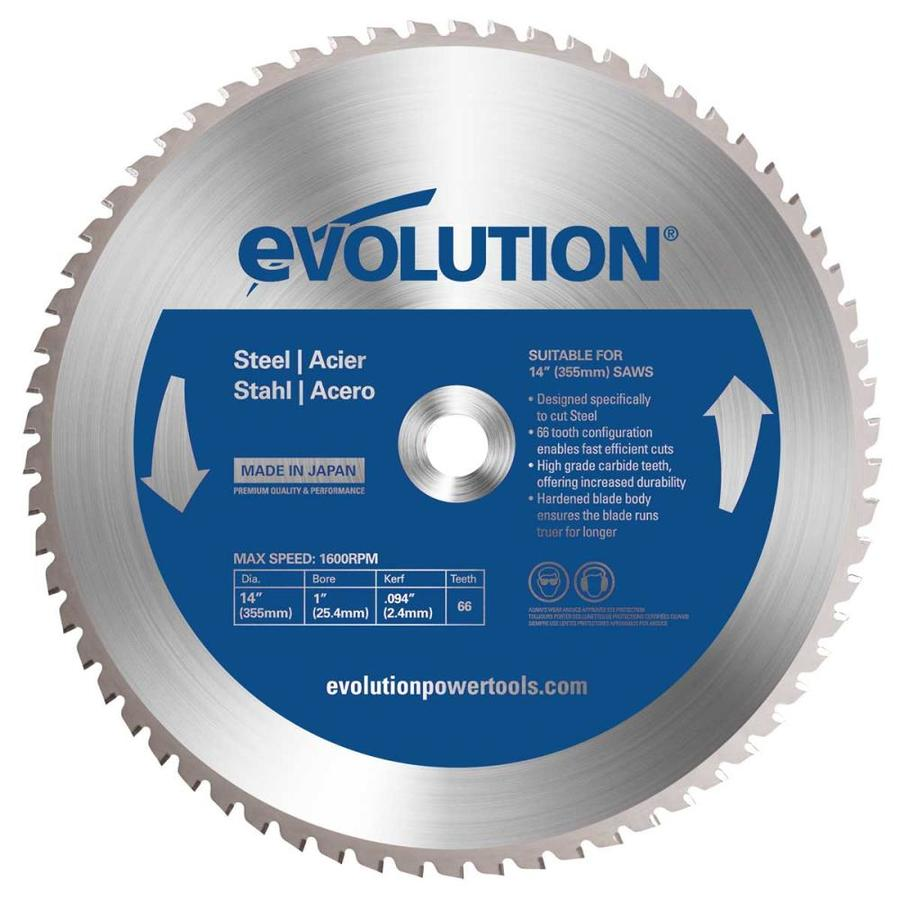 Evolution 14-in 66-Tooth Dry Standard Tungsten Carbide-Tipped Steel Circular Saw Blade