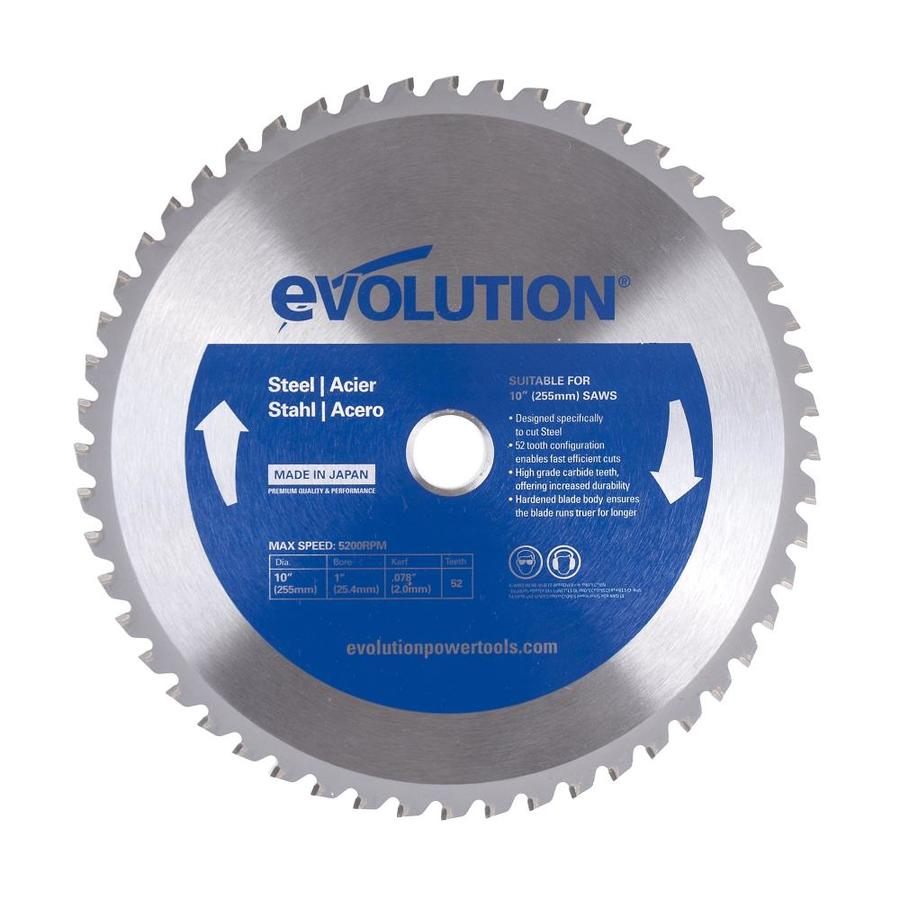 Evolution 10-in 52-Tooth Dry Standard Tungsten Carbide-Tipped Steel Circular Saw Blade