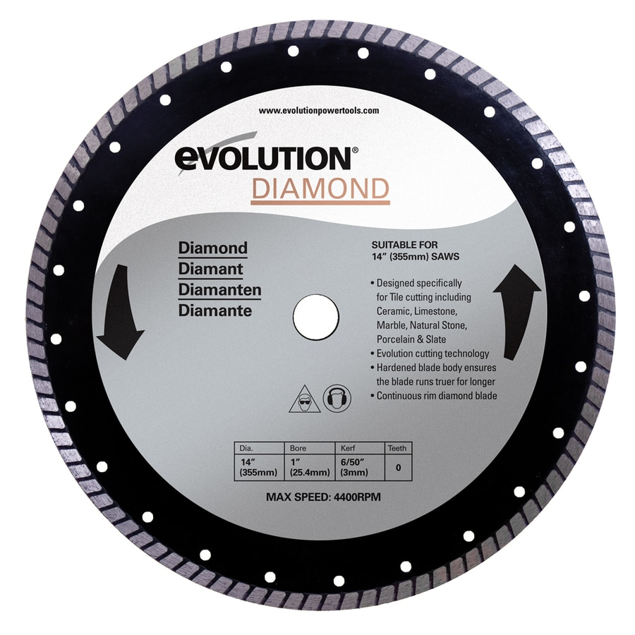 Evolution 14-in 0-Tooth Wet or Dry Continuous Diamond Circular Saw Blade