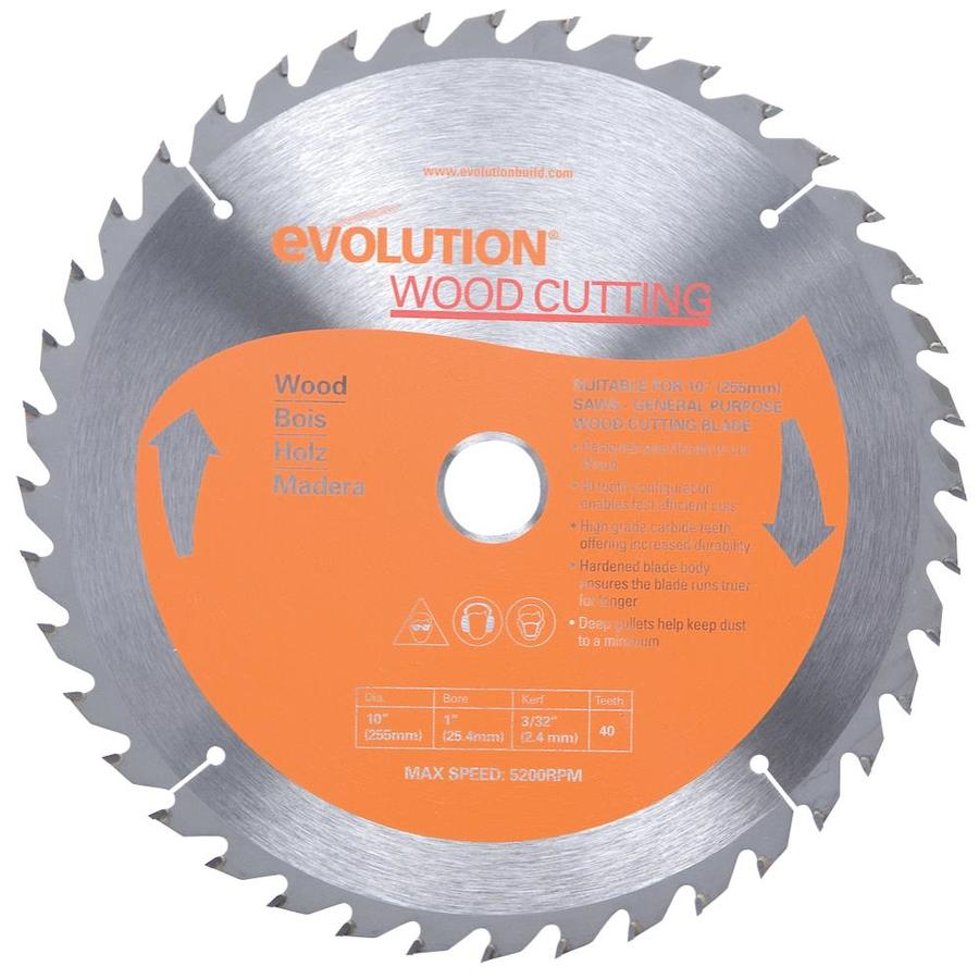 Evolution 10-in 40-Tooth Dry Standard Tungsten Carbide-Tipped Steel Circular Saw Blade