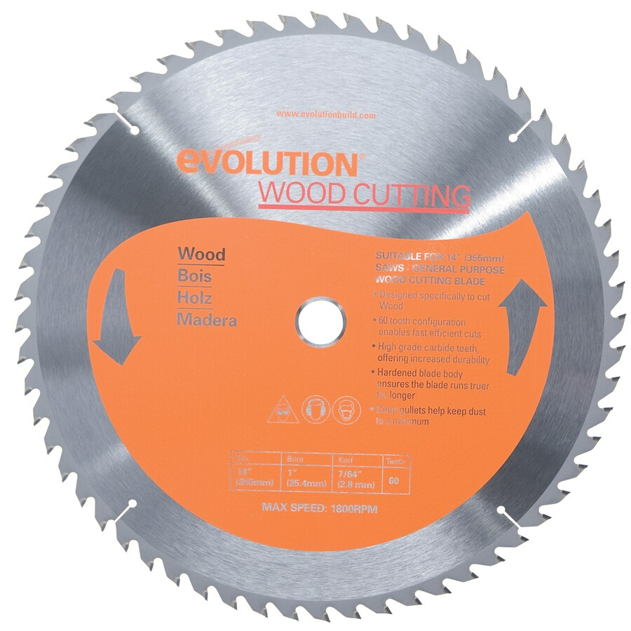 Evolution 14-in 60-Tooth Tungsten Carbide-Tipped Steel Circular Saw Blade