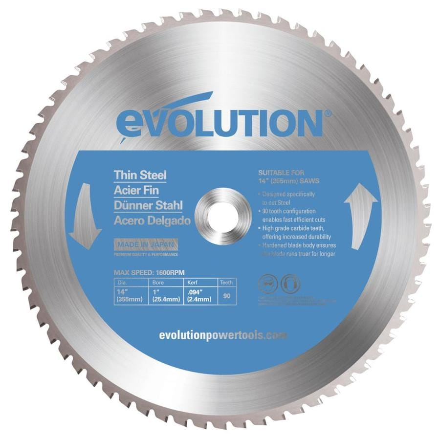 Evolution 14-in 90-Tooth Tungsten Carbide-Tipped Steel Circular Saw Blade