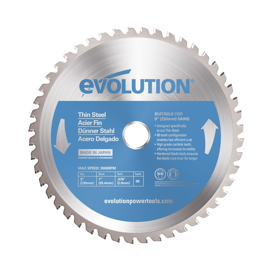 Evolution 9 In 68 Tooth Tungsten Carbide Tipped Steel