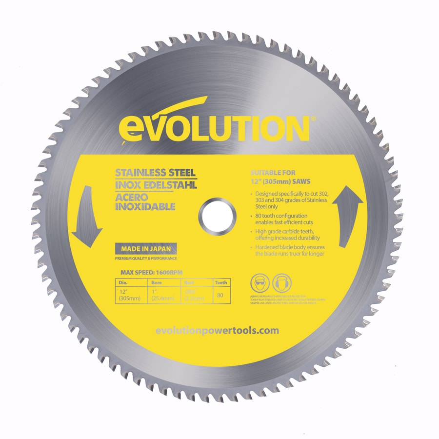 Evolution 12-in 80-Tooth Dry Standard Tungsten Carbide-Tipped Steel Circular Saw Blade