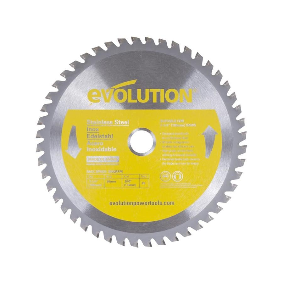 Evolution 7-1/4-in 48-Tooth Dry Standard Tungsten Carbide-Tipped Steel Circular Saw Blade