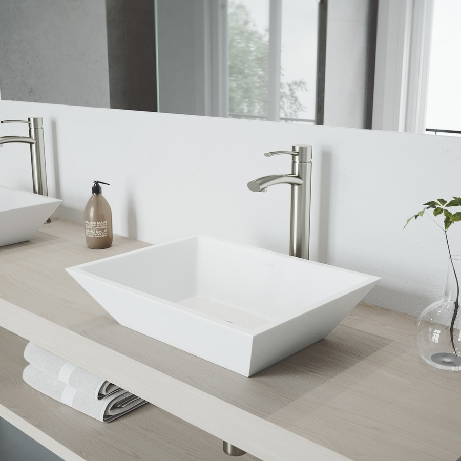 VIGO Milo Brushed Nickel 1-Handle Vessel WaterSense Bathroom Faucet