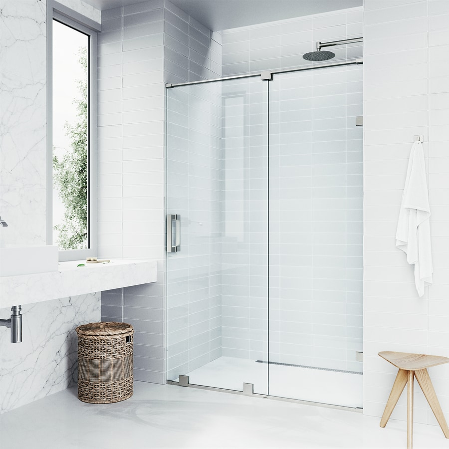 VIGO Ryland 60-in to 62-in W x 72.75-in H Frameless Sliding Shower Door