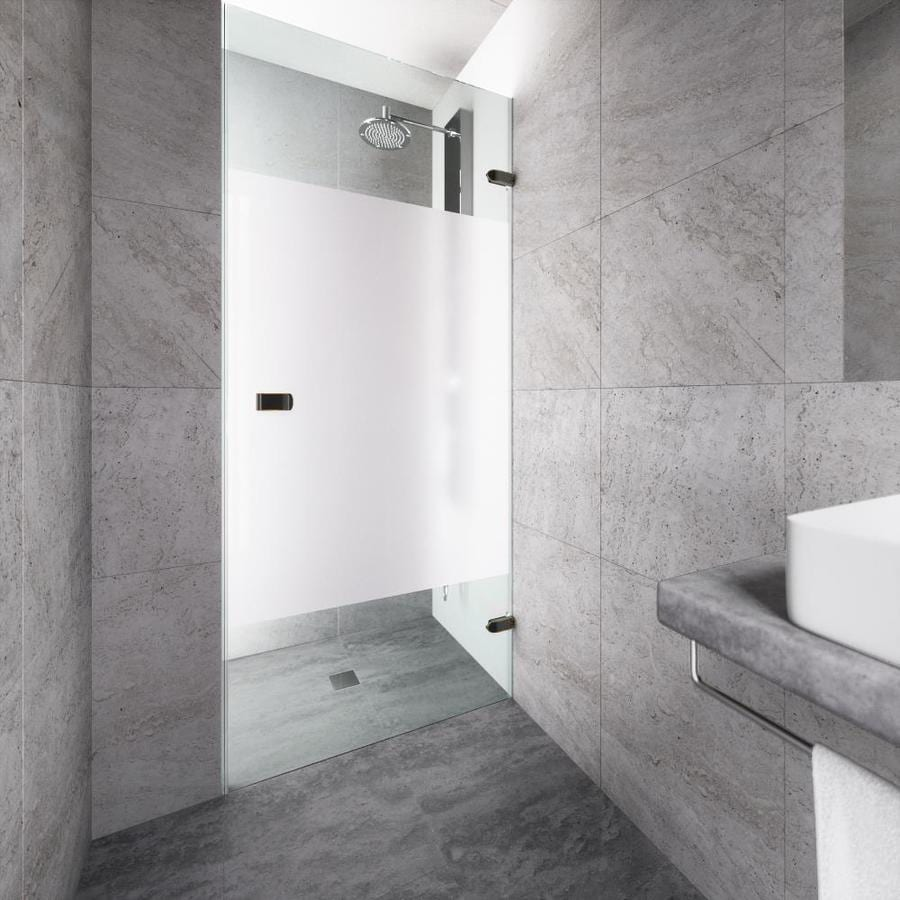 VIGO Tempo 28-in to 28.5-in Frameless Hinged Shower Door