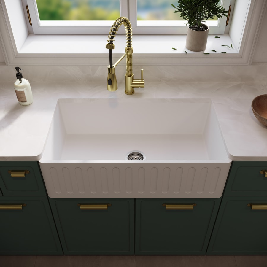White Apron Kitchen Sink Shop Kitchen Sinks At Lowescom