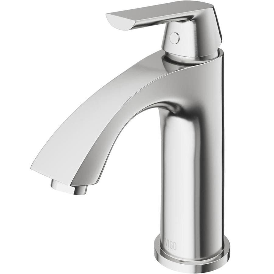 vigo bathroom faucets. VIGO Penela Brushed Nickel 1-Handle Single Hole WaterSense Bathroom Faucet Vigo Faucets L