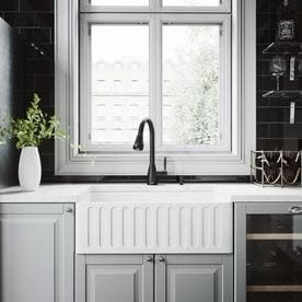 Vigo Kitchen Collection Platinum 30 In X 18 White Single Basin Standard
