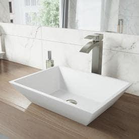 Charmant VIGO Vinca Matte White Matte Stone Vessel Rectangular Bathroom Sink
