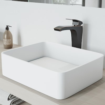 Jasmine Matte White Matte Stone Vessel Rectangular Bathroom Sink on lowe's bathroom remodeling, lowe's flexible gas pipe, lowe's faucets for vessel sinks, cast iron undermount kitchen sinks, lowe's refrigerators, lowe's bathroom storage, lowe's windows, lowe's corner bathroom vanity, lowe's mop sinks, lowe's bidet seats, stainless steel kitchen sinks, lowe's bathroom faucets, lowe's bathroom vanities, lowe's bathroom kitchens, lowe's sink bowls, lowe's faucet hole plugs, lowe's brass faucets, lowe's commercial toilets, lowe's copper sinks, lowe's bathroom walls,