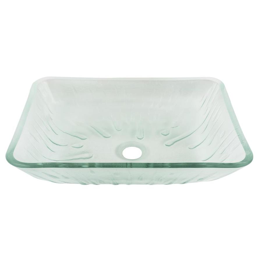 Vigo glass vessel sinks icicles tempered glass vessel - Bathroom tempered glass vessel sink ...