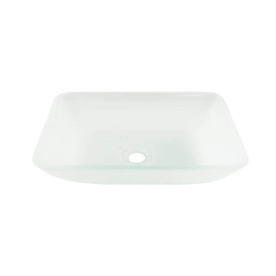Vigo glass vessel sinks white frost tempered glass vessel - Bathroom tempered glass vessel sink ...