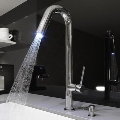 Oakhurst Chrome 1-handle Deck Mount Pull-down Kitchen Faucet