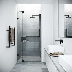 VIGO Pirouette 42 x 74 Adjustable Pivot Frameless Shower Door