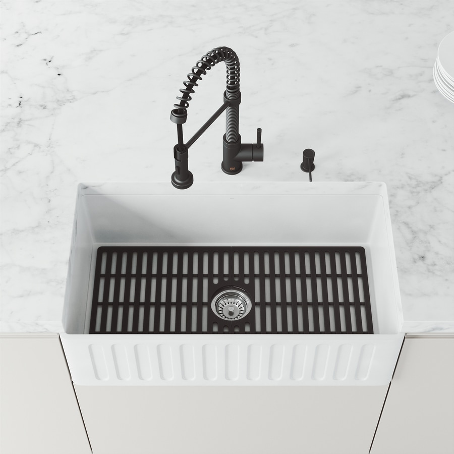 Vigo 29 5 In X 14 56 In Kitchen Sink Bottom Grid In The Sink Grids Mats Department At Lowes Com