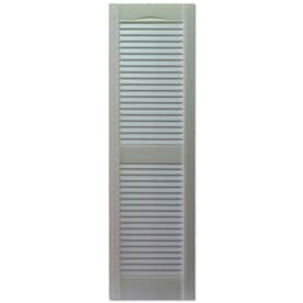 Custom Shutters Llc. 2 Pack Paintable Louvered Vinyl Exterior Shutters  (Common: 14